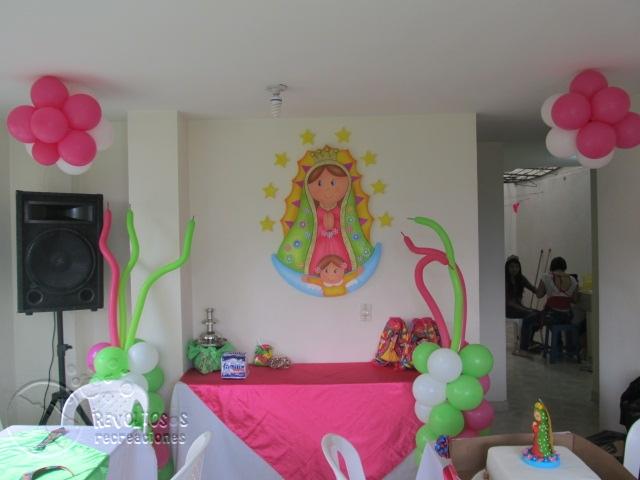 Decoracion Primera Comunion Virgen De Guadalupe ~ DECORACI?N DE LA VIRGEN DE GUADALUPE FIESTAS INFANTILES MEDELLIN