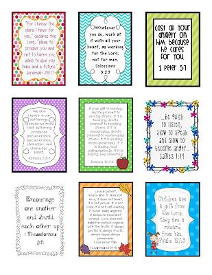 gwhizteacher, ID badge verses, 9 weeks of scripture verses