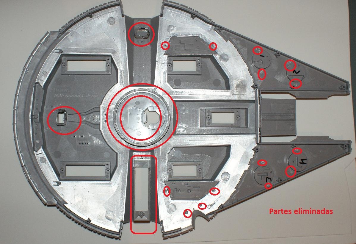 Construyendo el halcon milenario interior paso 2 for Interior halcon milenario