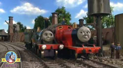 Beautiful Emily the green train fill up water Thomas friend train James the really splendid engine