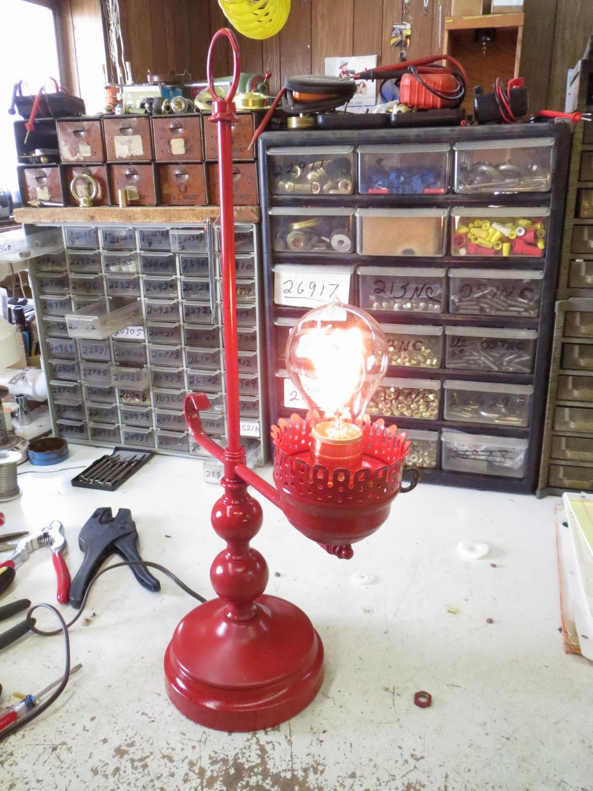 Lamp parts and repair lamp doctor red table lamp with arm gets lamp parts and repair lamp doctor red table lamp with arm gets rewired greentooth Gallery
