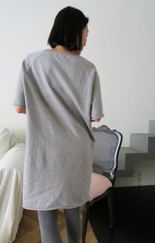 Raglan Cotton T-Shirt Dress
