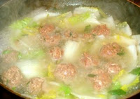 how make simple Chinese meat ball soup
