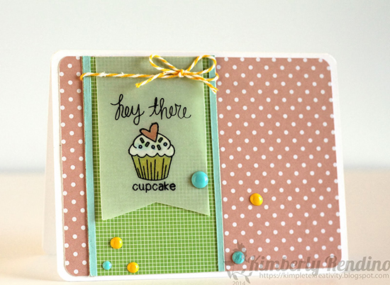 Cupcake Love card by Kimberly Rendino using Love a la Carte Stamp set by Newton's Nook Designs