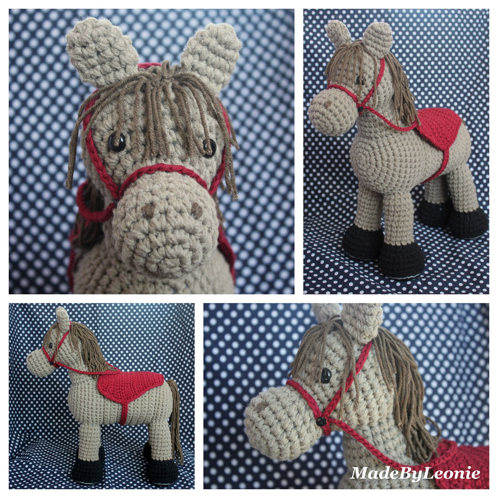 Free Crochet Pattern For Horse : MadeByLeonie: Paard - Knuffel