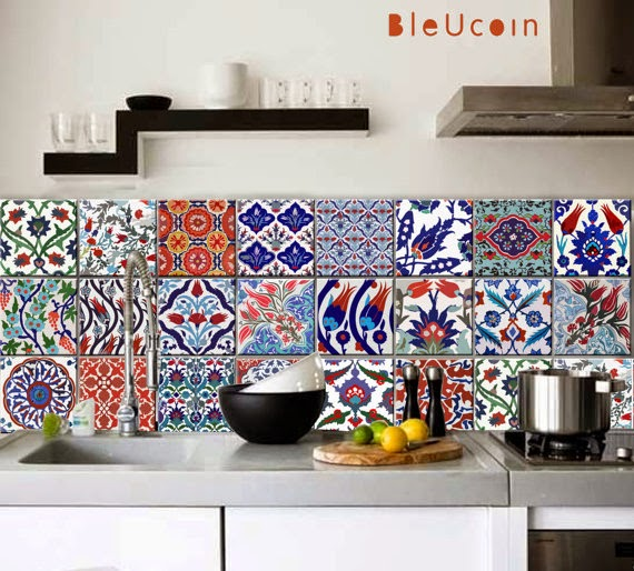 GYPSY YAYA: Bleucoin Tile Decals