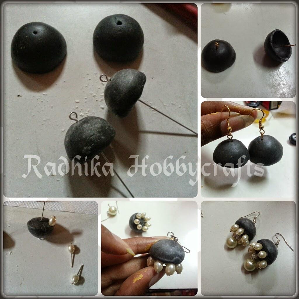 Hobby Crafts :): M-Seal Jhumkas Earrings