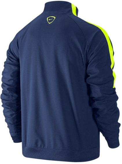 2014-2015 Barcelona Nike Woven Tracksuit (Navy-Volt)
