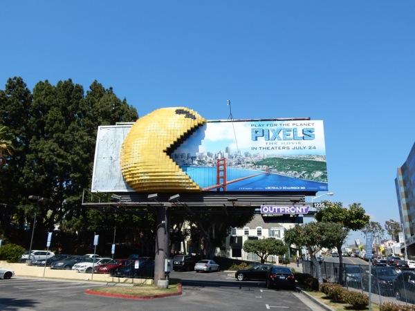 3D Pac-Man Pixels billboard