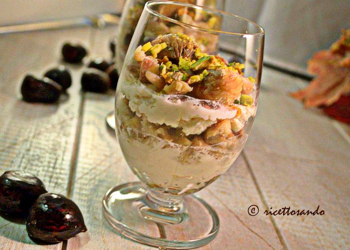 Fantasia di castagne e pistacchi ricetta dolce