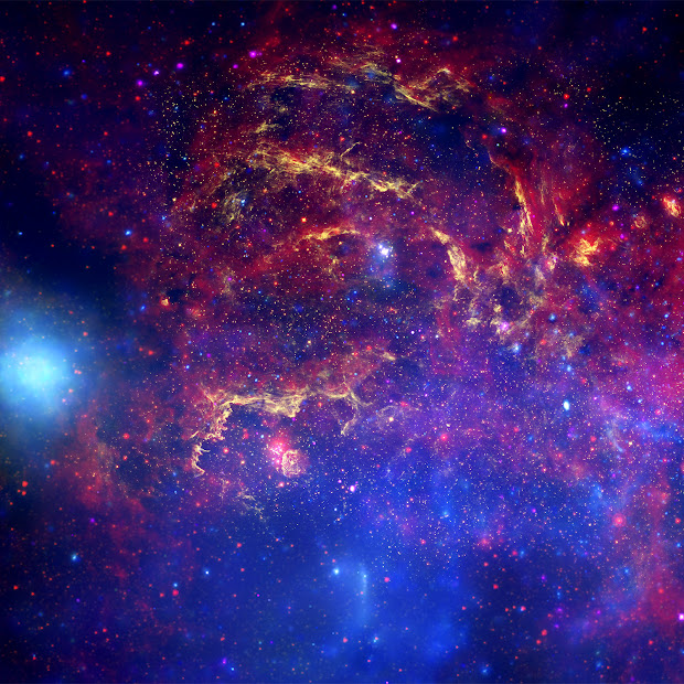 Stunning composite image of the core of the Milky Way Galaxy
