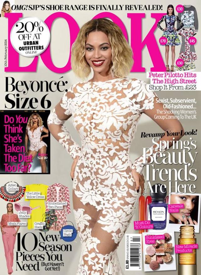 Beyoncé en portada de Look Magazine febrero 2014