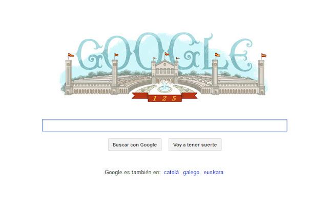Doodle conmemorativo del 125 aniversario de la Exposición Universal de Barcelona