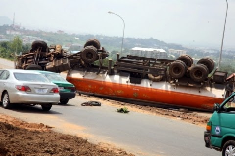 Two persons killed as tanker crushes taxi in Kwara