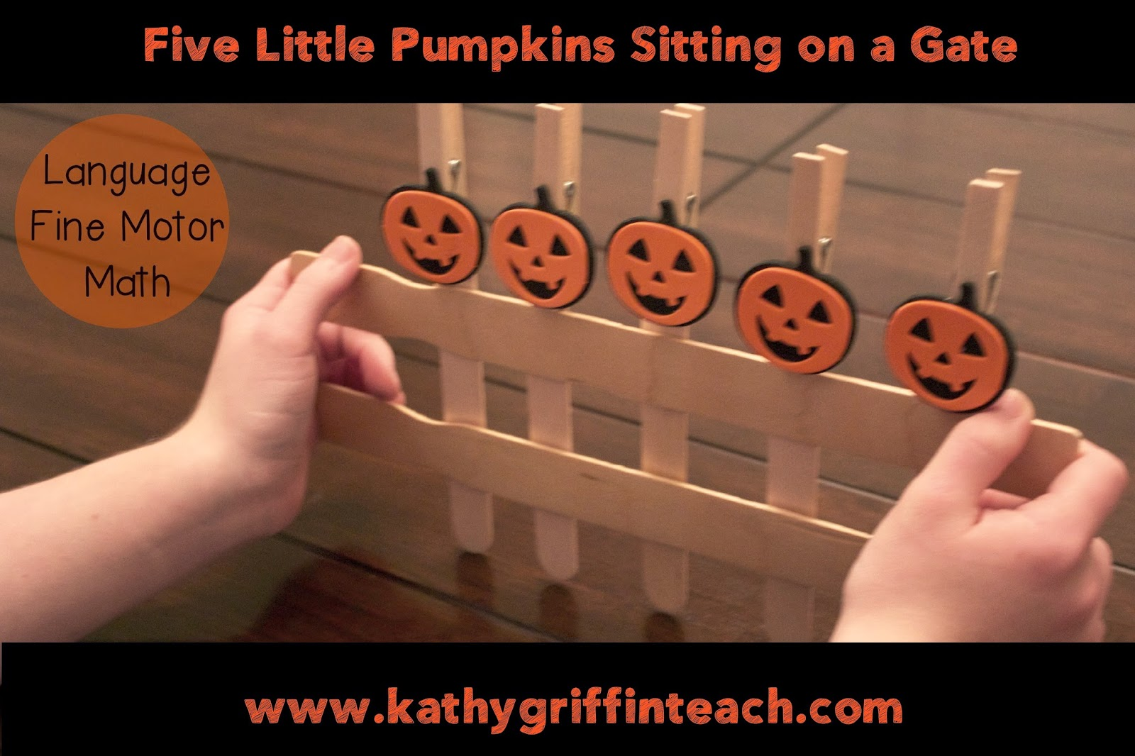 graphic about Five Little Pumpkins Sitting on a Gate Printable referred to as Kathy Griffins Education Suggestions: 5 Minor Pumpkins