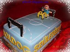 Kézilabdapálya torta