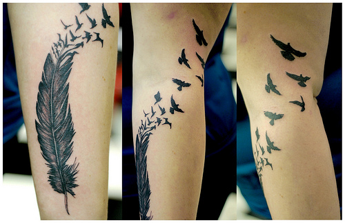 eagle feather tattoo. Feather Tattoos. eagle feather