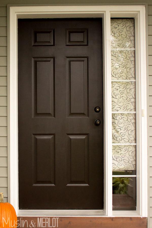 Painted Front Door Muslin And Merlot
