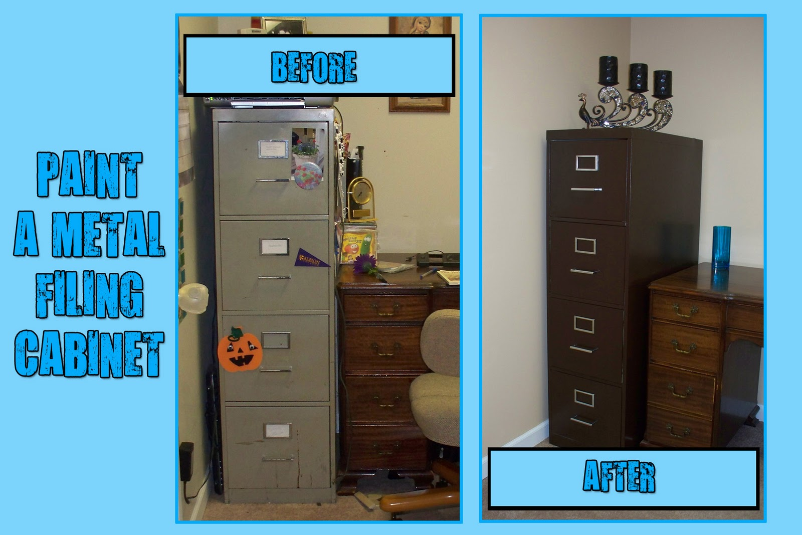 Make Do: I painted a metal filing cabinet and you can too!