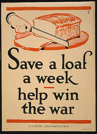 classic posters, food, food and drug administration, free download, graphic design, military, public health, public service announcement, retro prints, vintage, vintage posters, war, propaganda, Save a Loaf a Week, Help Win the War - Vintage US Food Administration Poster