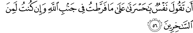 Surat Az-Zumar ayat 56