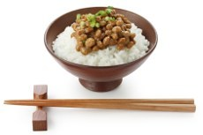 Japanese food with natto