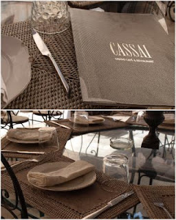 cassai restaurant menu tables and chairs Mallorca holidays Liz and Pip Ltd