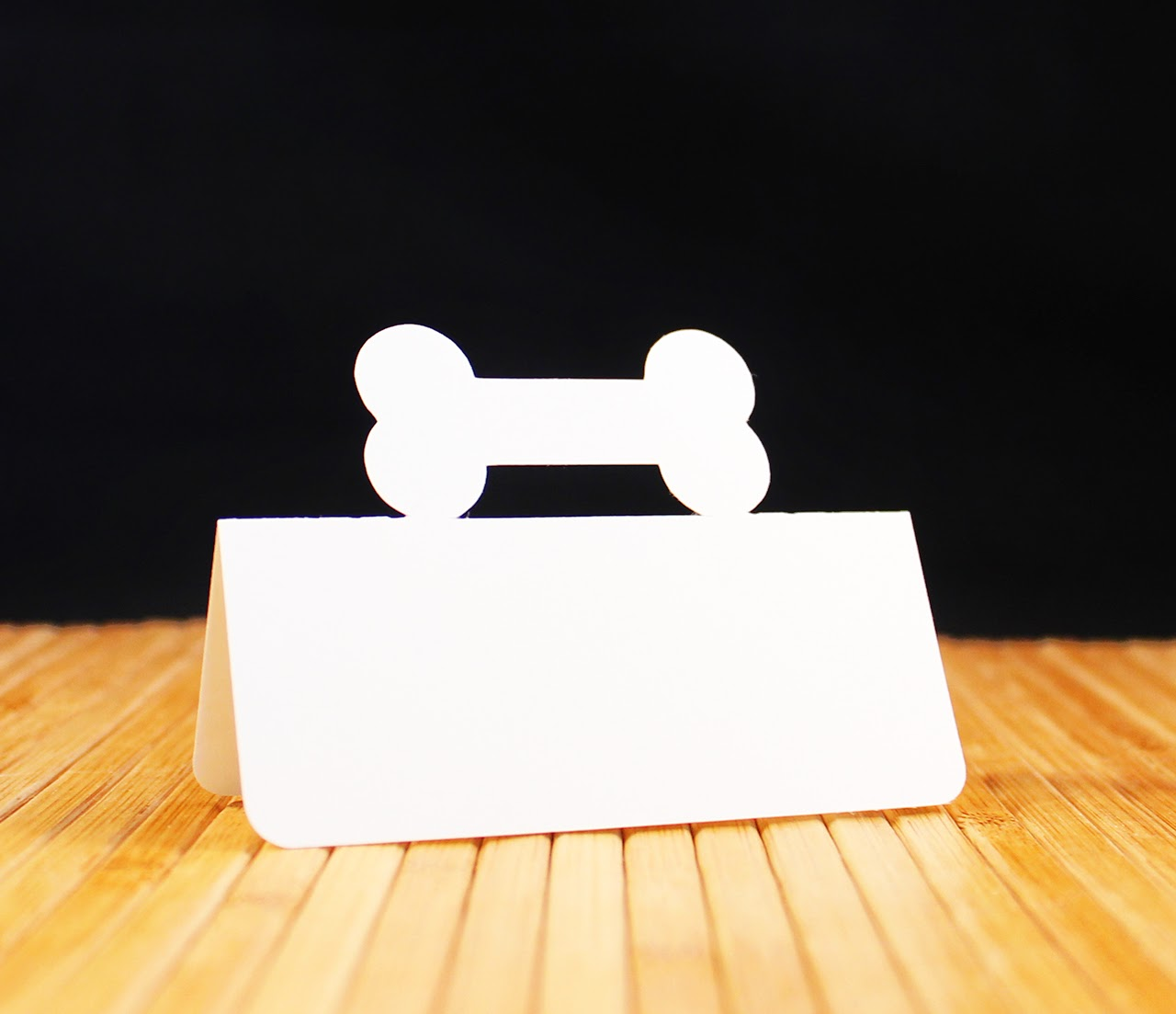 http://www.tiffzippy.com/dog-bone-place-cards/