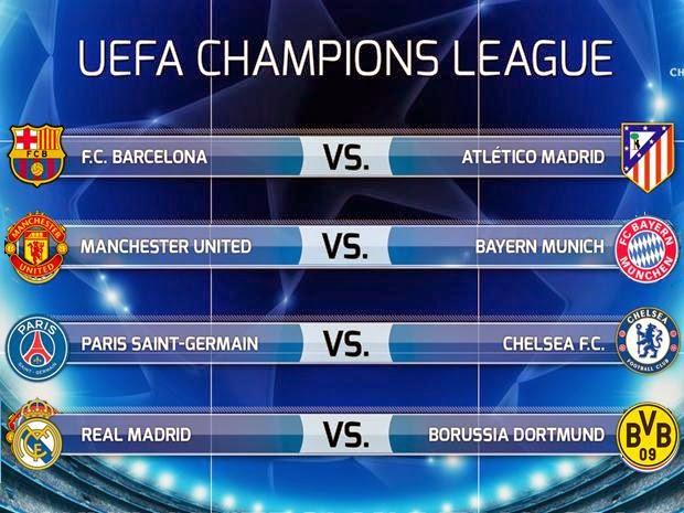 Deportes: Mucho fútbol: ☆ Champions League cuartos de final ida