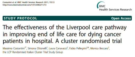 liverpool care pathway essay