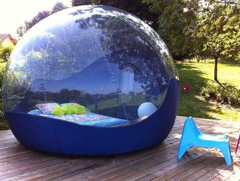 dormir dans une bulle