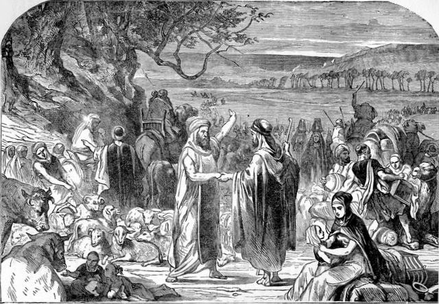 """Parting of Abram and Lot"" - from Treasures of the Bible"