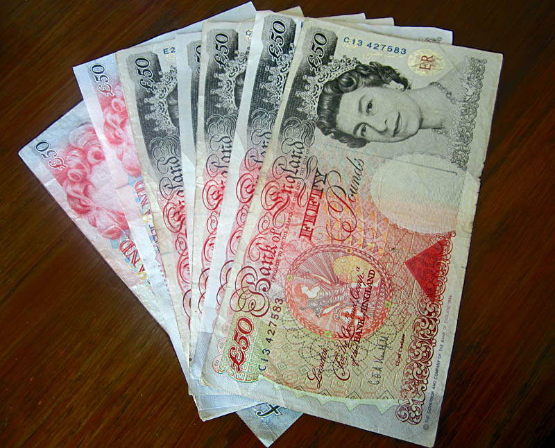 Stock Pictures British Pound Gbp Images Currency Collage 50 Quid