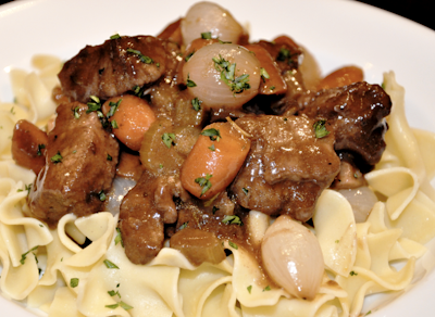 Beef Bourguignon Buttered Parsley Noodles