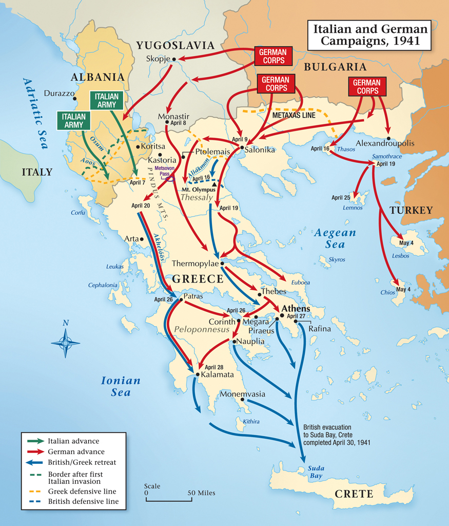 greece in world war 2 The battle of greece (also known as operation marita, german: unternehmen marita) is the common name for the invasion and conquest of greece by nazi germany in april 1941.