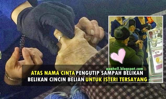 Pengutip Sampah Kumpul Wang Belikan Cincin Berlian Buat Isteri Tercinta (6 Gambar)