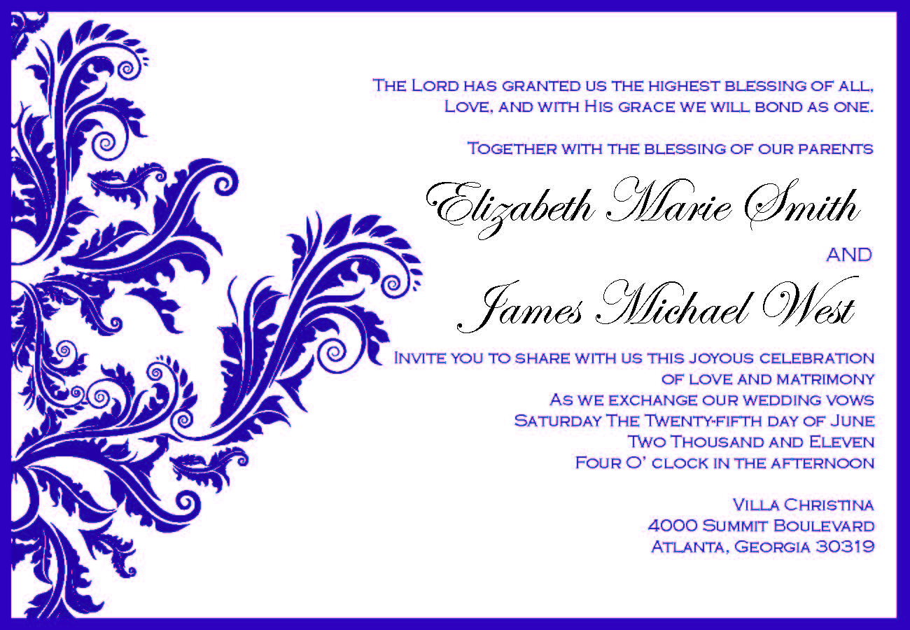 client work wedding invitation