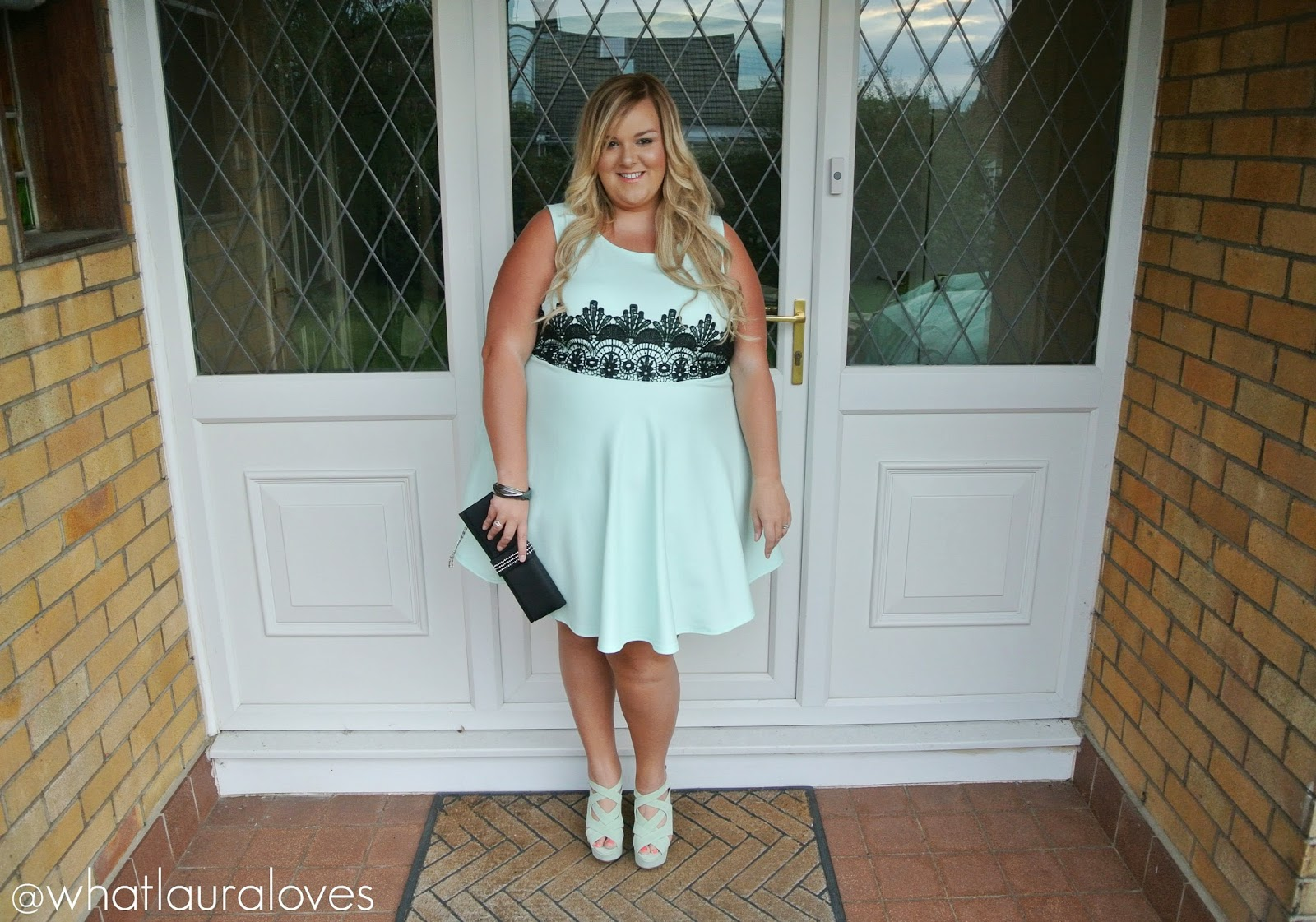 WhatLauraWore: Plus Size Mint Dress | What Laura Loves