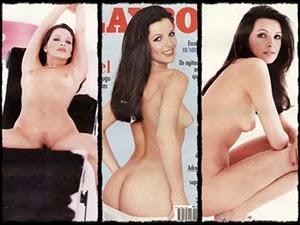 Luiza Ambiel na Playboy de fevereiro de 1996
