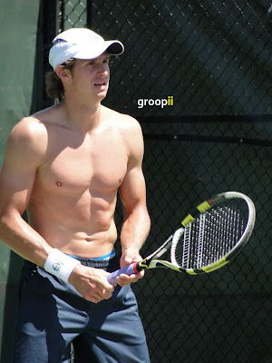 Igor Andreev Shirtless at Miami Open 2011