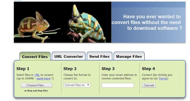 Zamzar.com for Converting Files Online