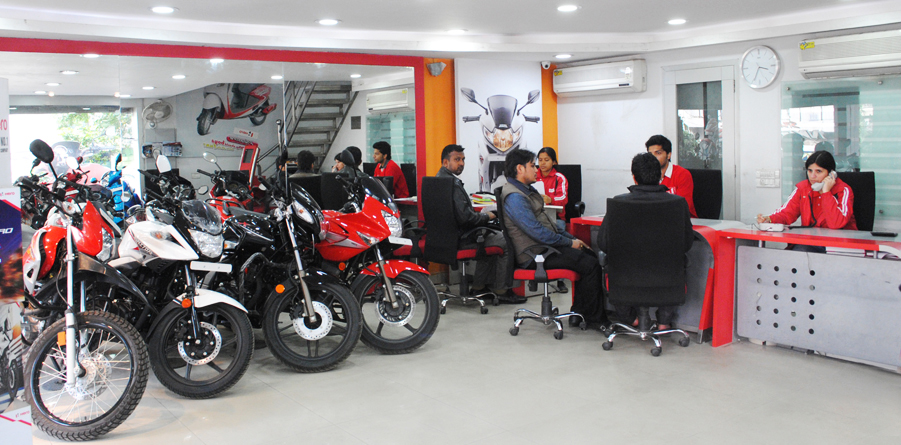 The hero motocorp showrooms blog in india for Honda 4 wheeler dealers near me