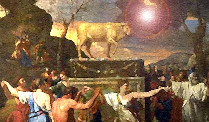 Celebration around the Golden Calf - Artist unknown