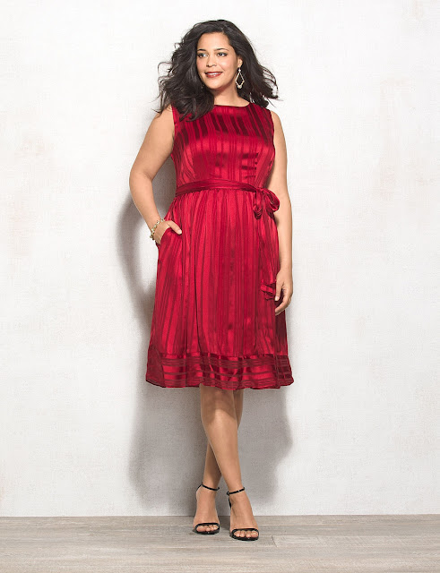Red Plus Size Dress Holidays Christmas