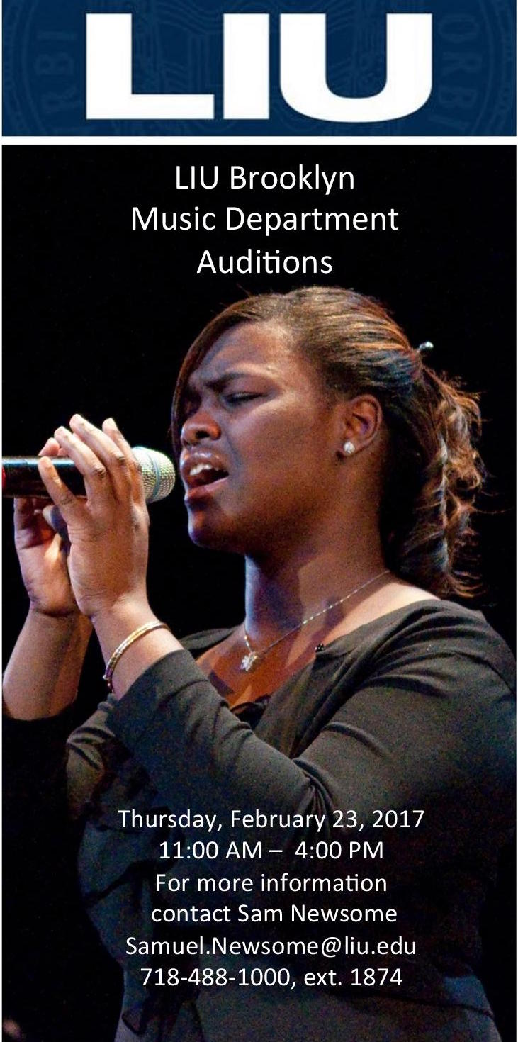 AUDITIONS FOR THE 2017 - 2018 SCHOOL YEAR