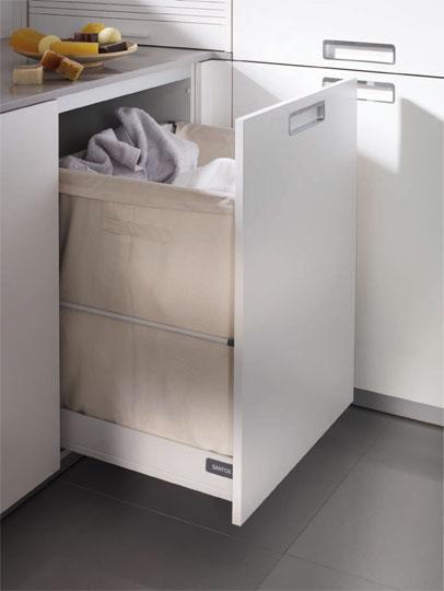 Un lavadero bien organizado cocinas con estilo - Mueble ropa sucia ikea ...