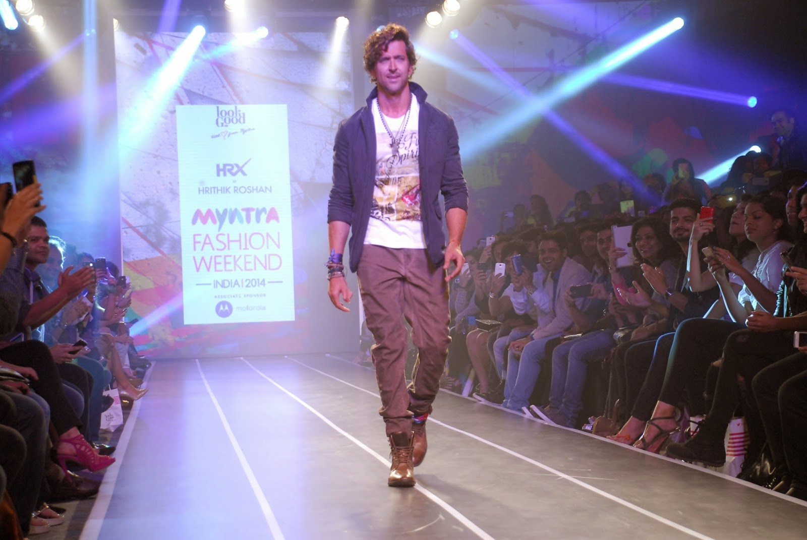 Hrithik Roshan Ramp Walk at Myntra Fashion Weekend