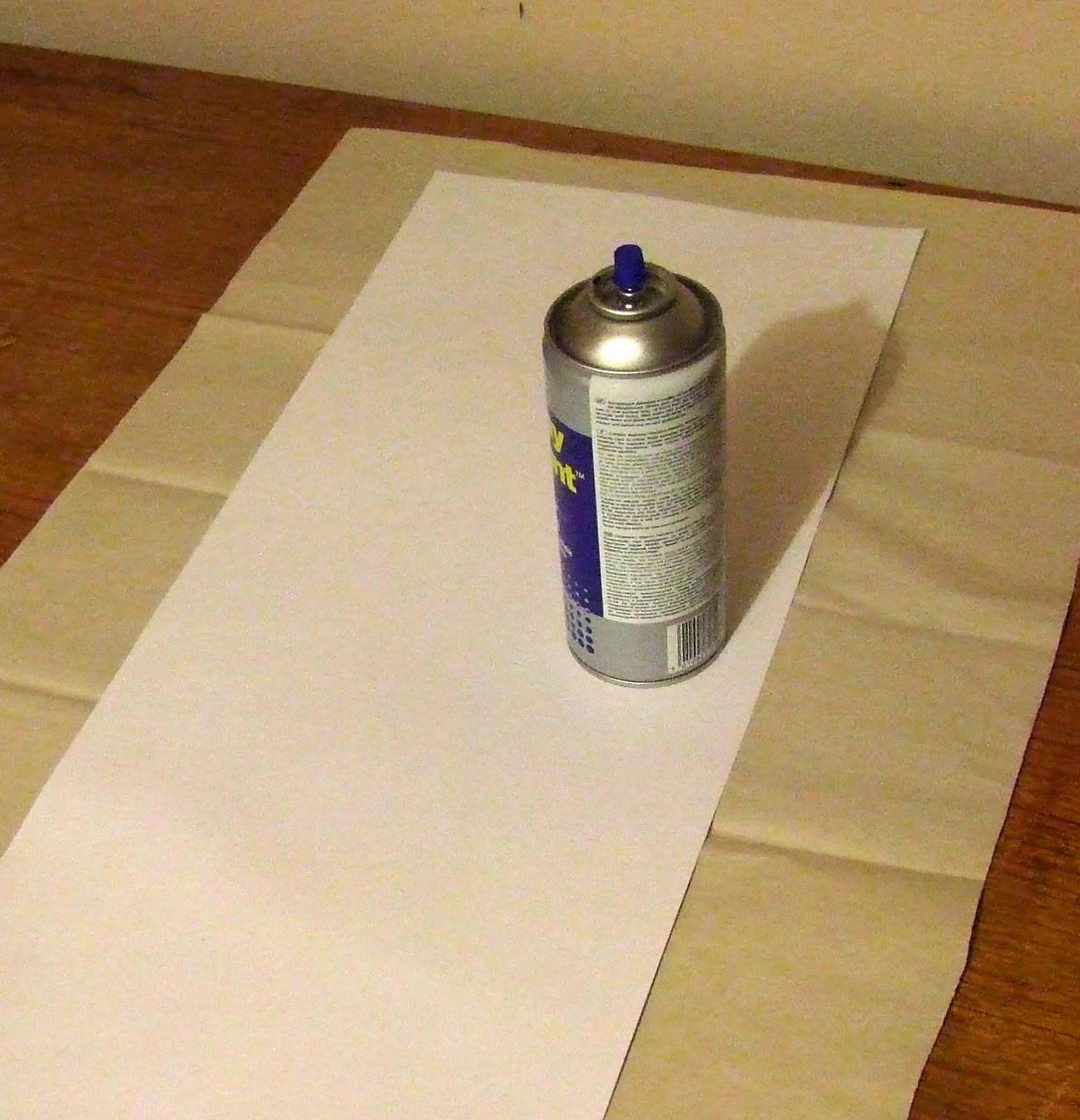 Apply spray mount onto card