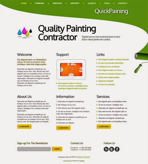 Quality Painting Contractor - Free Drupal Theme