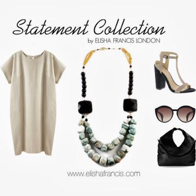 statement necklace, elisha francis, elisha francis london, turquoise necklace, fashion blog, designer necklace, gemstone necklace